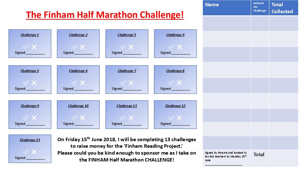 13 Challenges Sponsorship Form
